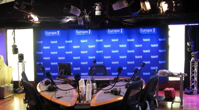 Broadcast with Elisabeth Belmas on Europe 1