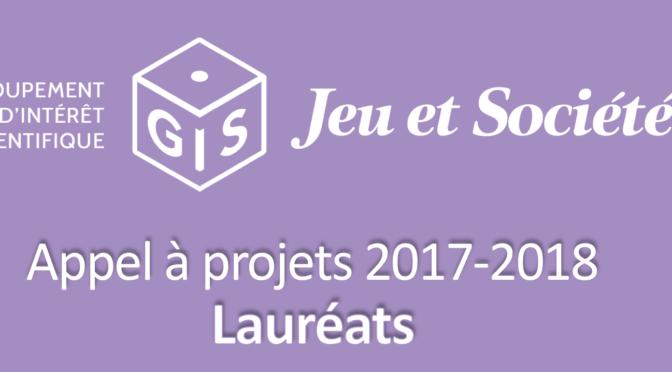 Lauréats de l'Appel à projets (2017-2018)