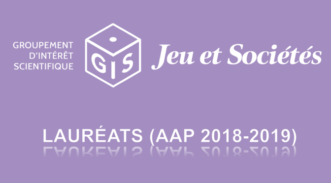 LAURÉATS DE L'APPEL À PROJETS 2019